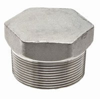3000 lb Stainless Steel Forged Hex Plugs