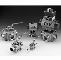 Stainless Steel Sanitary 3-Way Ball Valves